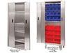 "HEAVY DUTY BI-FOLD DOOR CABINETS - STAINLESS STEEL - WITH 6""H LEGS"